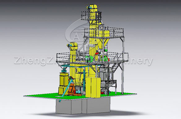 Animal feed pellet production line model